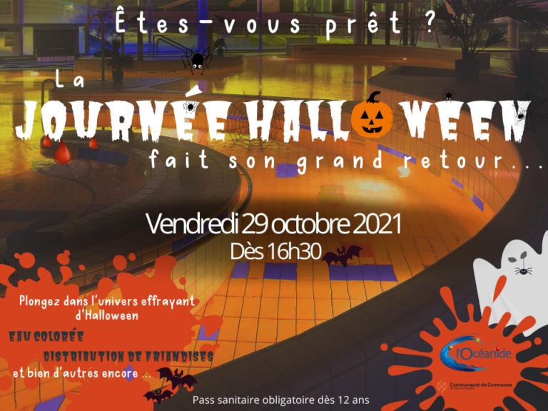 affiche halloween piscine
